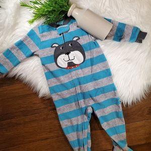 🌿5/$25 Carter's Blue Stripe Penguin Pajamas 18m